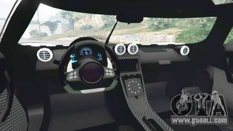 GTA 5 Koenigsegg One1 2014 v1.1 rear right side view
