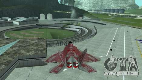 F-22 Raptor PJ for GTA San Andreas left view