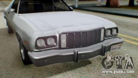 Ford Gran Torino 1974 IVF for GTA San Andreas interior