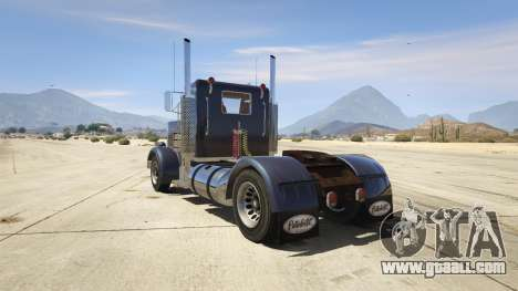 GTA 5 Peterbilt 289 rear left side view