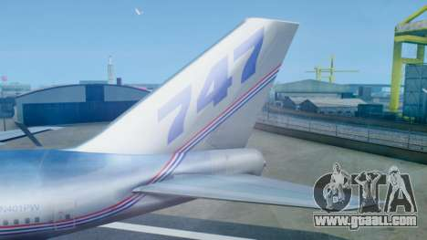 Boeing 747-400 Prototype (N401PW) for GTA San Andreas back left view