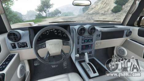 Hummer H2 2005 [tinted] for GTA 5