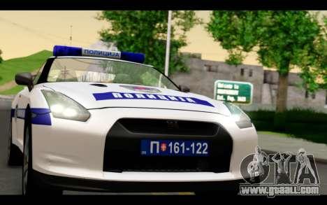 Nissan GT-R Policija for GTA San Andreas back left view