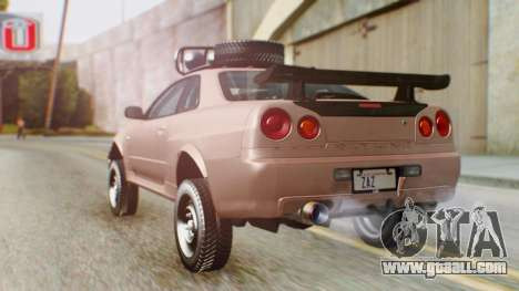 Nissan Skyline GT-R R34 RAID Spec for GTA San Andreas left view