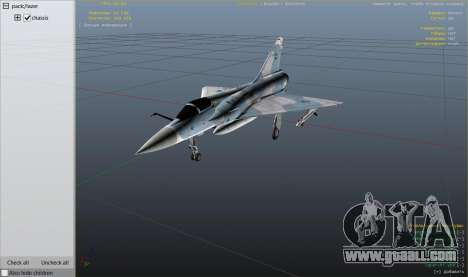 GTA 5 Dassault Mirage 2000-C FAB ninth screenshot