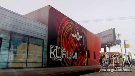 Kurumi Tokisaki Graffiti for GTA San Andreas third screenshot