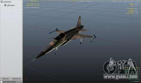 GTA 5 Northrop F-5E Tiger II FAB ninth screenshot