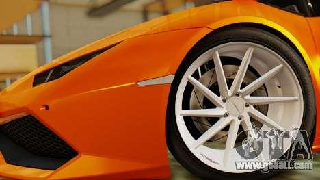 Lamborghini Huracan LP610-4 2015 for GTA San Andreas back left view