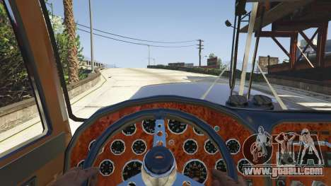 GTA 5 Peterbilt 289 right side view
