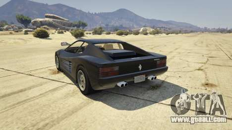 GTA 5 1984 Ferrari Testarossa 1.9 rear left side view