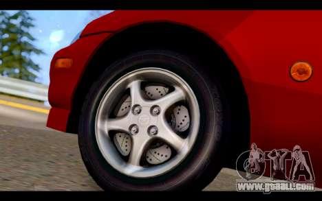 Mazda MX-5 for GTA San Andreas back left view