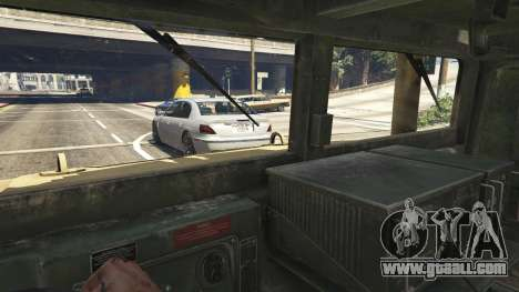 GTA 5 M1116 Humvee Up-Armored 1.1 right side view