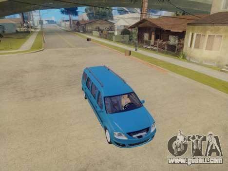 Lada Largus 7-door for GTA San Andreas back view