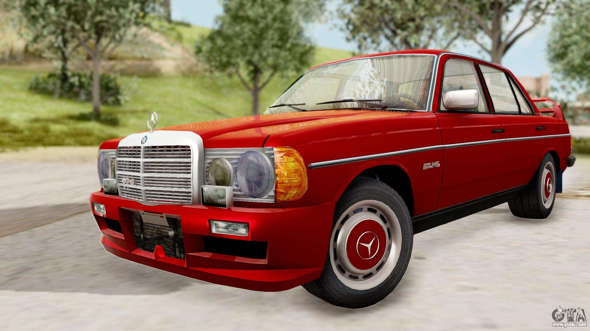 Mercedes benz 230e amg 3 2 1982 evolution mod for gta san for Mercedes benz 230e