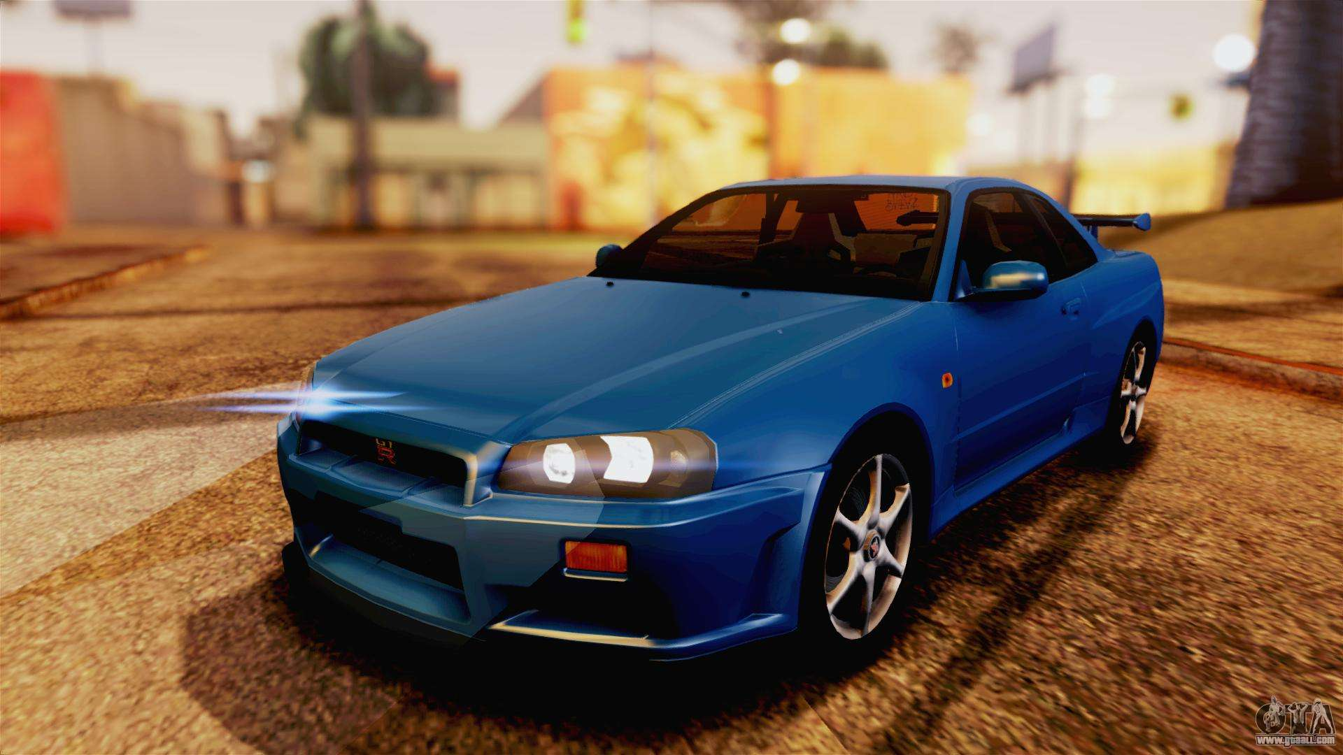 nissan skyline gt r r34 v spec 1999 for gta san andreas. Black Bedroom Furniture Sets. Home Design Ideas