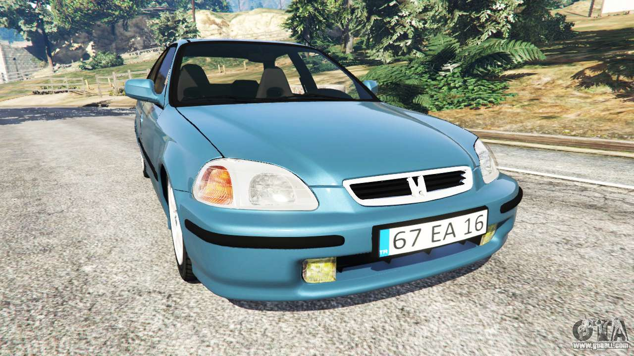 honda civic 1997 for gta 5. Black Bedroom Furniture Sets. Home Design Ideas