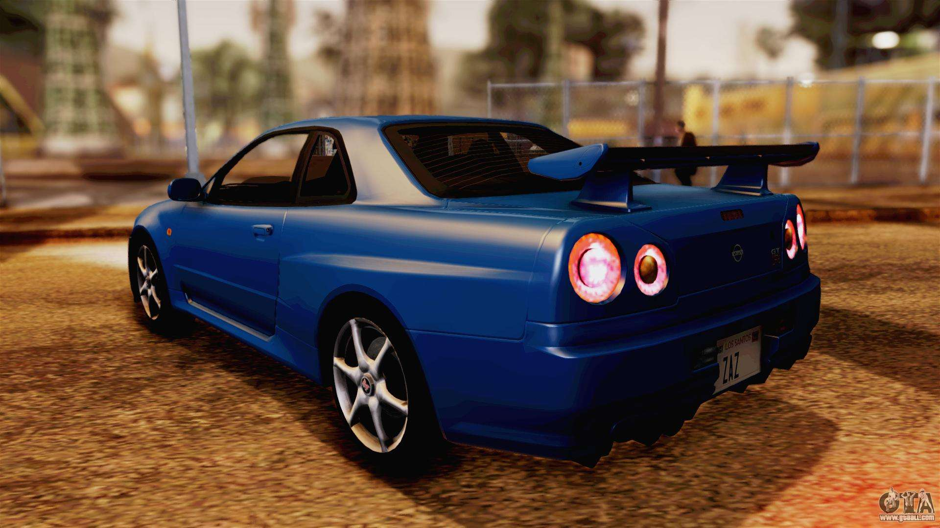 Nissan Gtr Custom >> Nissan Skyline GT-R R34 V-spec 1999 for GTA San Andreas