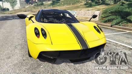 Pagani Huayra 2013 v1.1 [yellow rims] for GTA 5