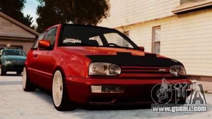 Volkswagen Golf VR6 1998 DTD Tuned for GTA 4