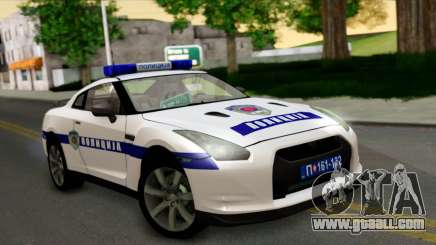 Nissan GT-R Policija for GTA San Andreas