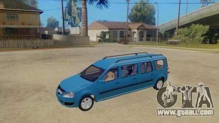 Lada Largus 7-door for GTA San Andreas