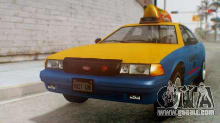 Vapid Taxi with Livery for GTA San Andreas
