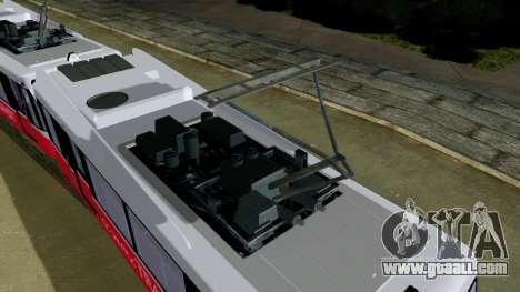 GTA 5 Metrotrain for GTA San Andreas back left view