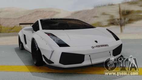 Lamborghini Gallardo 2005 LW LB Performance for GTA San Andreas right view