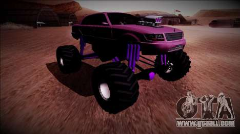GTA 4 Washington Monster Truck for GTA San Andreas back left view