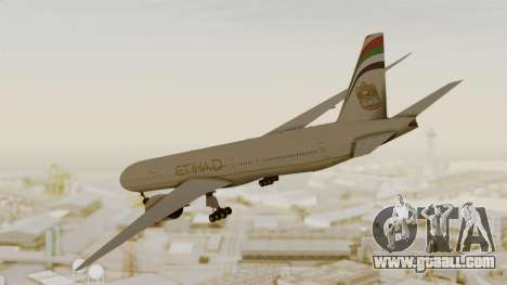 Boeing 777-9x Etihad Airways for GTA San Andreas left view