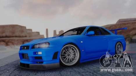 Nissan Skyline R34 Full Tuning for GTA San Andreas