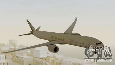 Boeing 777-9x Etihad Airways for GTA San Andreas back left view