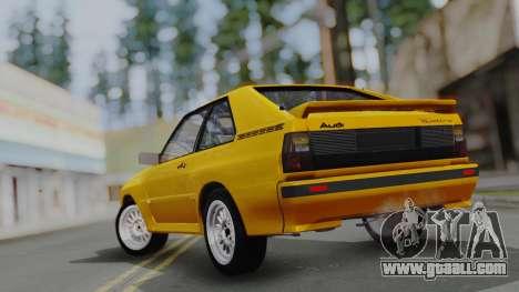 Audi Quattro Coupe 1983 for GTA San Andreas engine