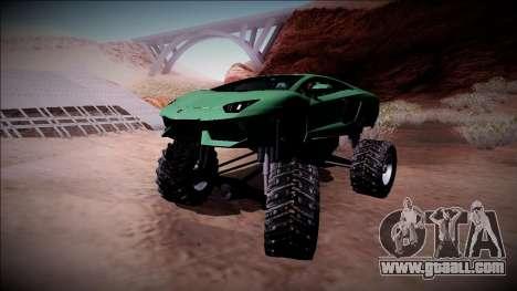 Lamborghini Aventador Monster Truck for GTA San Andreas upper view