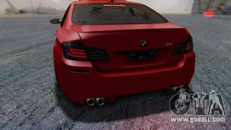 BMW M5 2012 Stance Edition for GTA San Andreas interior