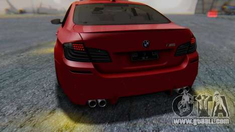 BMW M5 2012 Stance Edition for GTA San Andreas bottom view
