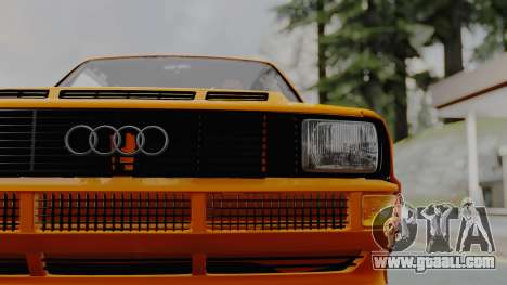 Audi Quattro Coupe 1983 for GTA San Andreas back view