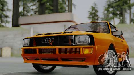 Audi Quattro Coupe 1983 for GTA San Andreas back left view
