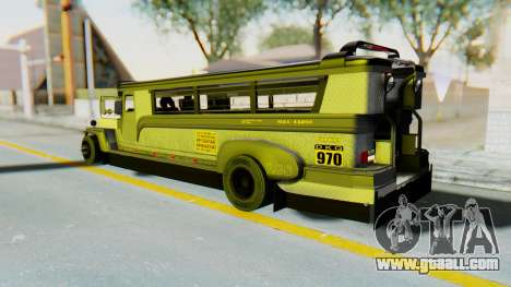 LGS Motors Eggtype Jeepney for GTA San Andreas left view