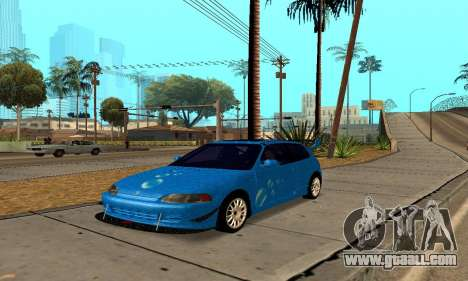 Honda Civic EG6 Tunable for GTA San Andreas back view