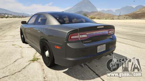 GTA 5 2012 Unmarked Dodge Charger rear left side view
