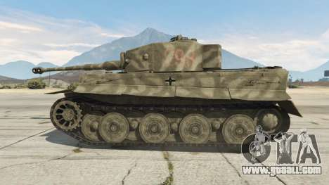 GTA 5 Panzerkampfwagen VI Ausf. E Tiger rear right side view