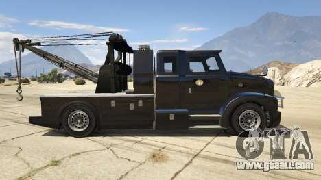 GTA 5 Police Towtruck left side view