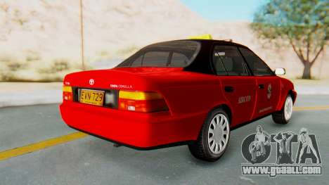 Toyota Corolla Dollar Taxi for GTA San Andreas left view