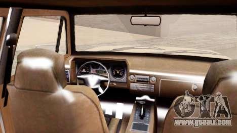 GTA 5 Declasse Rancher XL for GTA San Andreas back left view