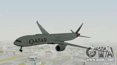 Boeing 777-9x Qatar Airways for GTA San Andreas back left view
