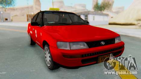 Toyota Corolla Dollar Taxi for GTA San Andreas back left view