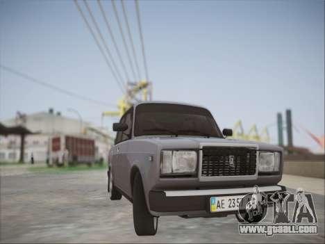 VAZ 2107 for GTA San Andreas