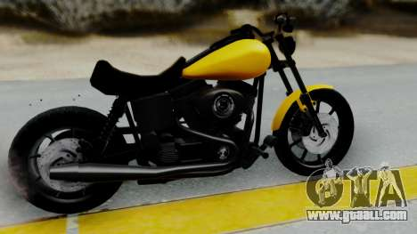 Harley-Davidson Dyna Super Glide T-Sport 1999 for GTA San Andreas back left view