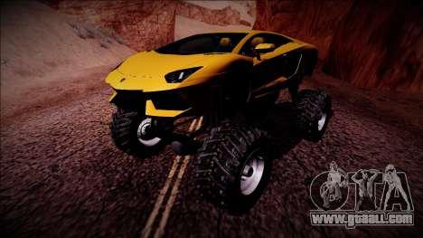 Lamborghini Aventador Monster Truck for GTA San Andreas left view